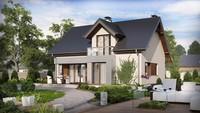 Проект классического мансардного дома с современными элементами