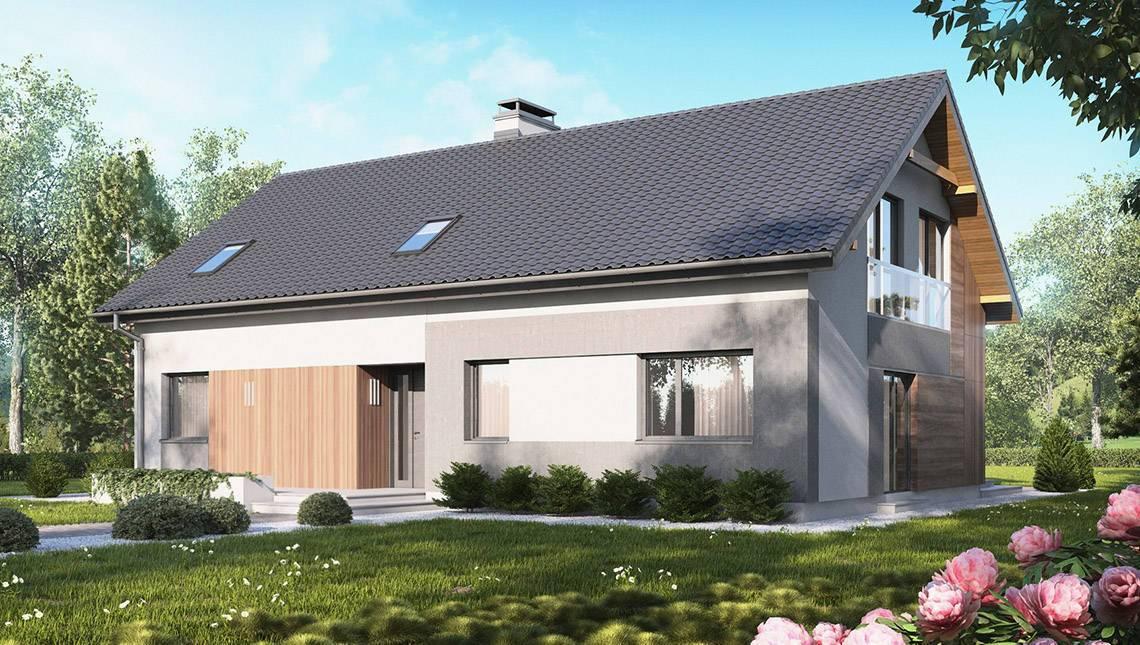 Проект загородного дома на две семьи