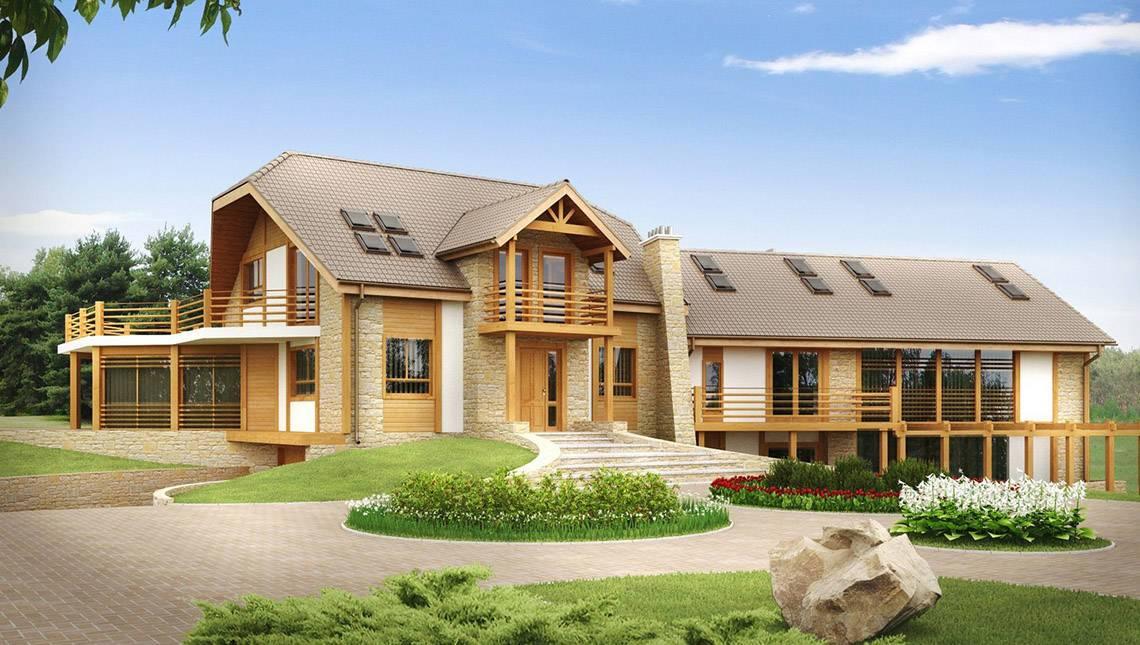 Проект стильного мини отеля со столовой и красивыми террасами