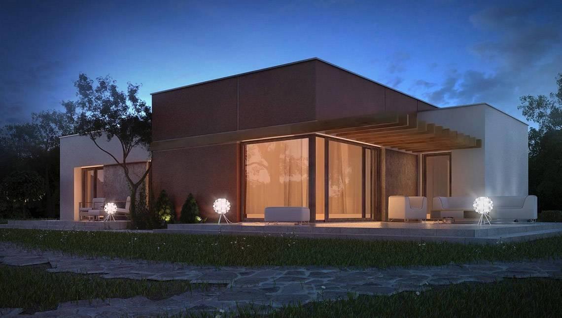 Небольшой модерновый домик в стиле хай-тек