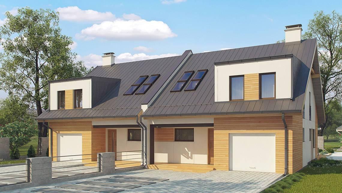Загородный дом на две семьи с отдельными входами и гаражами