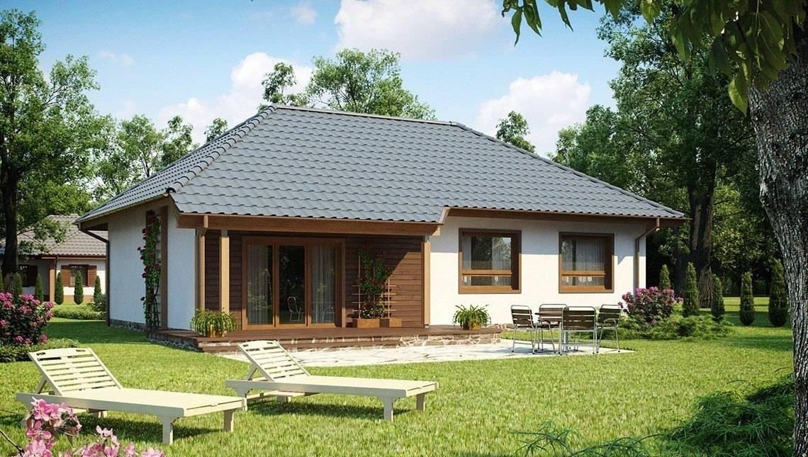 Проект 1-о этажного дома в европейском стиле