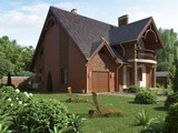 Проект добротного коттеджа с кирпичным фасадом