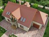 Проект классического загородного коттеджа с шестью спальнями