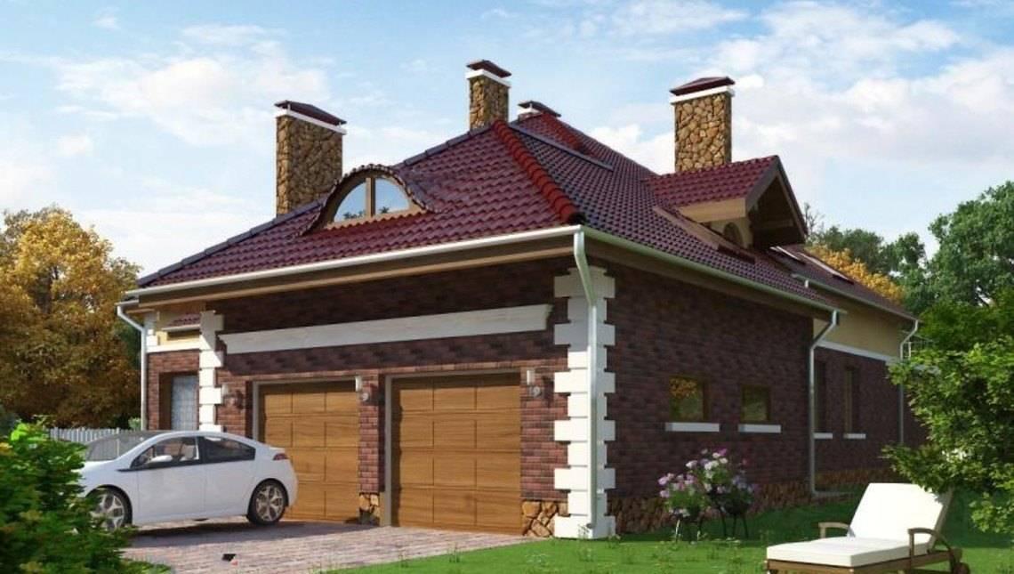 Привлекательный проект роскошной усадьбы с гаражом на две машины