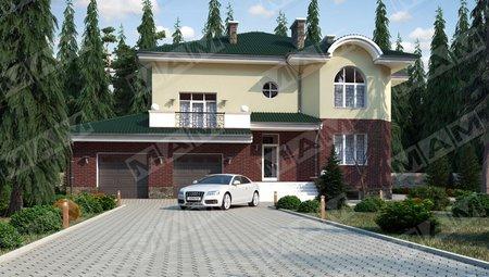 Запоминающийся проект классической усадьбы с подвальным этажом и гаражом на две машины