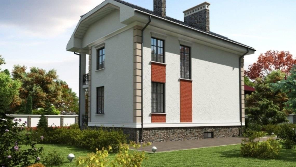 Впечатляющий проект двухэтажного загородного коттеджа с подвальным этажом