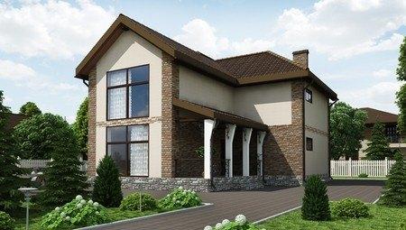 Проект шикарной усадьбы с огромными панорамными окнами