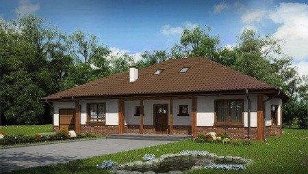 Большой дачный дом с мансардой и гаражом