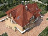 Проект дома с мансардой и уютной террасой