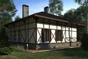 Классический загородный коттедж с мансардой в стиле шале