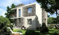 Небольшой двухэтажный дом в современном стиле