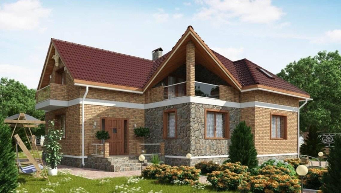 Комфортный дом с мансардой в английском стиле