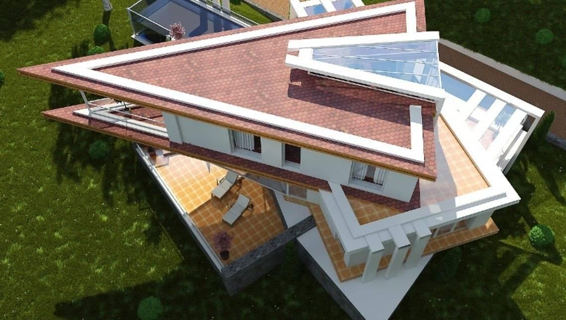 Нестандартный проект виллы в стиле хай-тек