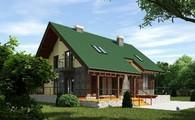Дом в английском стиле с зимним садом