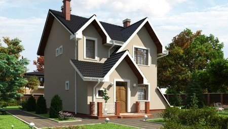 Симпатичный дом с необычной кровлей