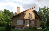 Проект коттеджа в классическом стиле с кирпичным фасадом и оригинальной крышей