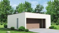 Современный проект гаража из пеноблоков