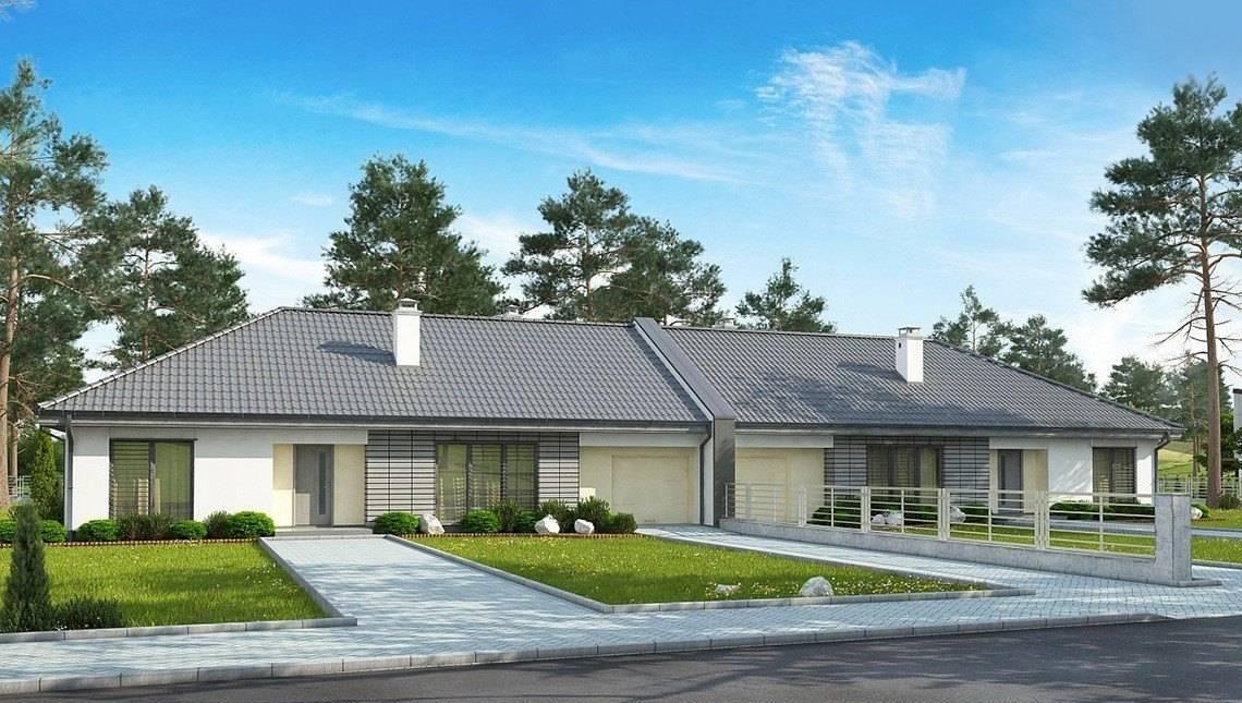 Проект комфортной одноэтажной усадьбы с гаражом