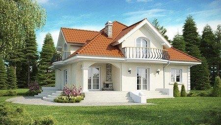Вариант уютного дома с мансардой 4M122 в каркасе