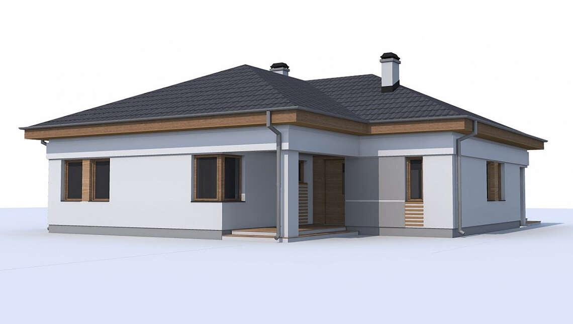 Версия проекта 4M174 без гаража, но с отдельным кабинетом