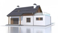 Дом с мансардой по типу 4M188 с гаражом на одну машину