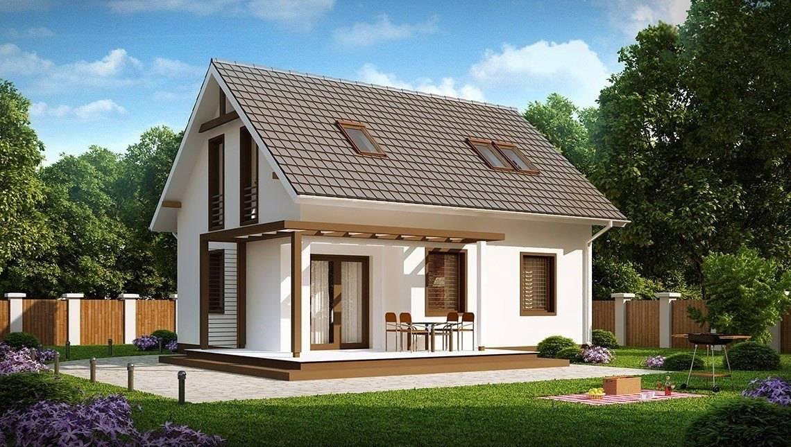 Каркасный вариант проекта 4M192 - компактного дома с мансардой