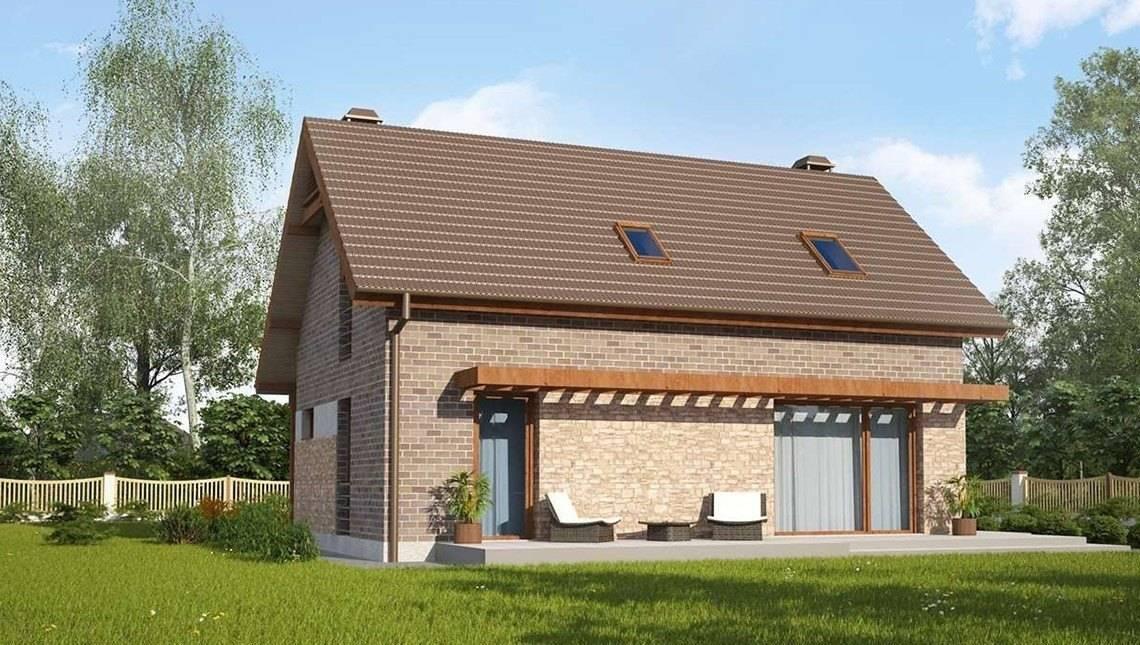 Проект дачного дома по типу 4M218 с кирпичным фасадом