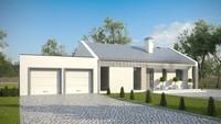 Проект современного удобного загородного дома по типу 4M272 с гаражом