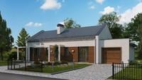 Современный загородный интересный дом с гаражом