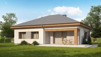 Проект измененного дома по типу 4M314 с увеличенной гостиной