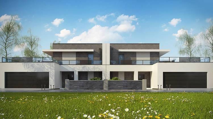 Современный таунхаус в минималистичном стиле с просторными террасами для отдыха