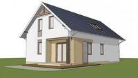 Вариант популярного домика для отдыха 4M480 с пристроенным гаражом