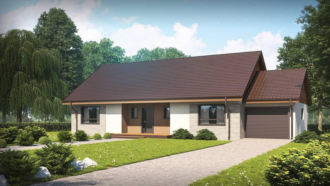 Проект дома с просторной мансардой и гаражом по типу проекта 4M538