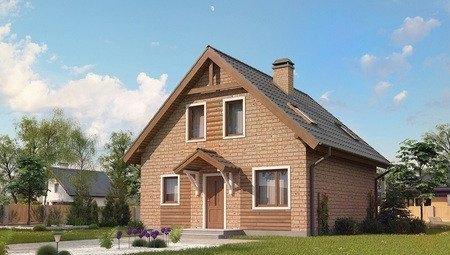 Вариант загородного дома с мансардой по типу 4M540 с кирпичным фасадом