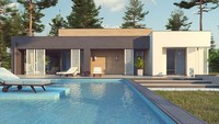 Шикарный одноэтажный дом с бассейном
