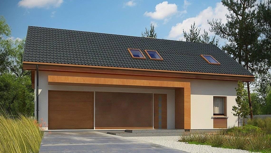 Проект дома с просторной большой мансардой в современном европейском стиле