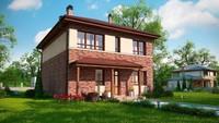 Классический удобный двухэтажный дом по типу 4M628 без гаража
