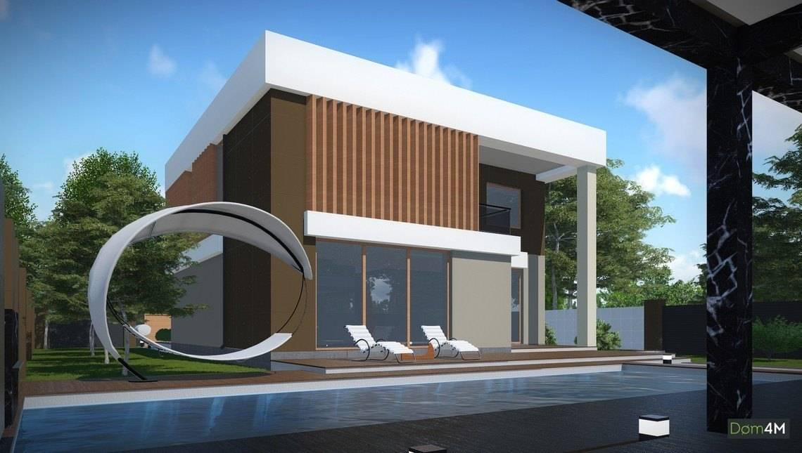 Красивый проект современного дома в стиле модерн