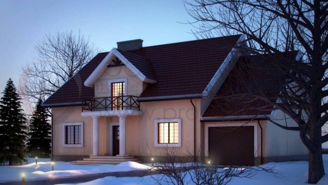 Красивый классический дом с мансардой