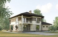 Большой двухэтажный дом общей площадью 310 кв.м.
