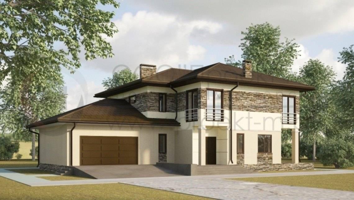 Двухэтажный дом с