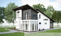 Архитектурный проект небольшого необычного домика