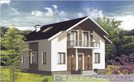 Проект загородного коттеджа площадью 130 m²