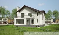 Архитектурный проект 2-этажного дома с сауной тренажерным залом и бассейном