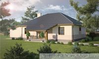 Проект простого загородного коттеджа 130 м