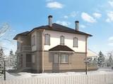Проект для постройки классического коттеджа 220 m² с гаражом и террасой