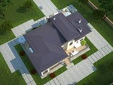 Проект удобного коттеджа для отдыха с плоской крышей