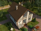 Проект удобного жилого яркого коттеджа