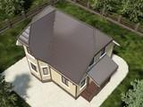 Архитектурный проект двухэтажного небольшого коттеджа 100 m²